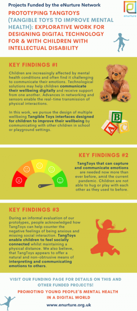 Tangible Toys - a project founded by the eNurture network. Prototyping TANGTOYs - 3 key findings